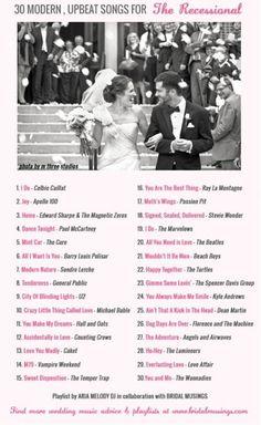 Wedding Music Playlist Modern Recessional Songs