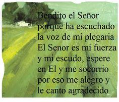 ...tomado del Salmo 28(27)