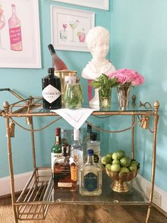 the pink clutch ...: Bar Cart Series ... No. 11 Evelyn Henson