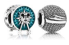 Disney Pandora Mickey's Fun Wheel from Disney California Adventure and a Disney monorail charm.