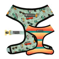 Frenchie Duo Reversible Harness - Surf's Up