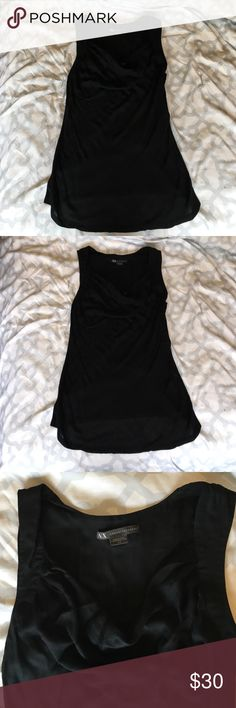 Armani Exchange Top Armani Exchange Sleeveless Top, Cowl Neck, However Not Revealing, Perfect For Office, Front Has A Linen Feel Armani Exchange Tops Tank Tops