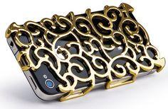 Gold Art Nouveau iPhone 4S Case.