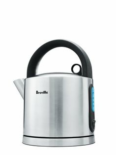 Breville SK550XL Ikon Kettle Brushed Stainless Steel has premium brushed stainless steel exterior and a see through pull off lid. It has a unique blue backlight behind the water window. 1.7 quart (1.6 liter) capacity and has 1500 watts of power.