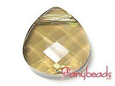Austrian Swarovski Crystal Elements 6012 Flat Briolettes 15mm - Golden Shadow