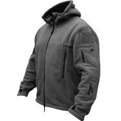 Men Tactical Military Winter Fleece Hooded Outdoor Jacket at Banggood