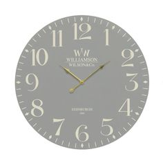 Grey Large Vintage Antique Rustic Round Home Bedroom Retro Time Kitchen Wall Clock