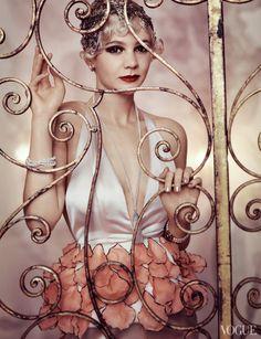 Carey Mulligan as Daisy Buchanan for The Great Gatsby photoshoot. Mario Testino, Vogue magazine, 2013