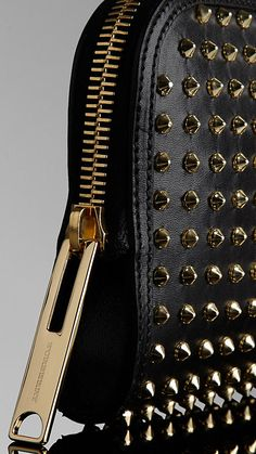 Must have to with the gloves -- Country Animal Studded Clutch Bag | Burberry