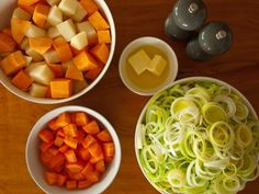 Leek and Potato Soup with Carrot and Kumera by tastyshoestring.com