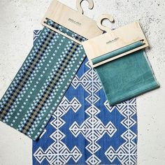 Thanks @stylerevolutionary for this great snap of @soda_and_stitch 's new hand dyed cotton velvet hand printed denim and khadi cloths featuring the laser cut ply hangers we made for them  by sketchandetchlaserdesigns