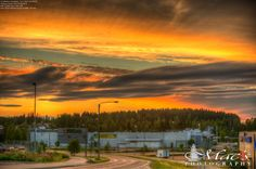Amazing sunset in Finland. This HDR photo brings all the tones from the sky at Palokka