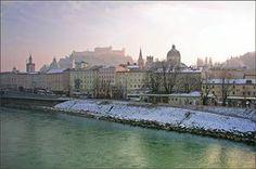 Blue Danube in winter, Salzburg