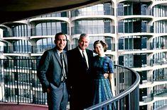 Marina City west tower balcony. May 1964