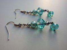 Blue Shimmer Earrings by StoneRoseJewels on Etsy, $10.00