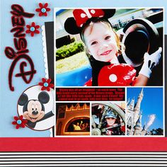 Disney Vacation Scrapbook Pages