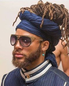 dreads and wrap black men hairstyles Blonde Dreadlocks, Locs, Dreadlocks Men, Dreadlock Hairstyles, Box Braids Hairstyles, Hairstyles 2018, Hairstyle Ideas, Hair Ideas, Style Afro