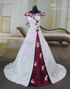 Burgundy wedding dresses christmas wedding and white burgundy