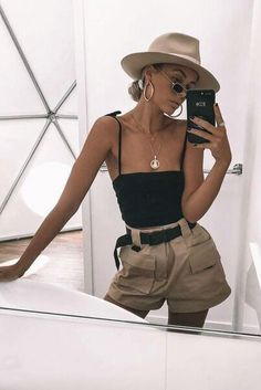 Trendy Outfits, Summer Outfits, Fashion Outfits, Womens Fashion, Fashion Ideas, Women's Summer Clothes, Ladies Fashion, Clothes 2018, Black Outfits