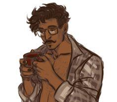 stonelions:  sad au morning dorian complete w/ boyfriend shirt