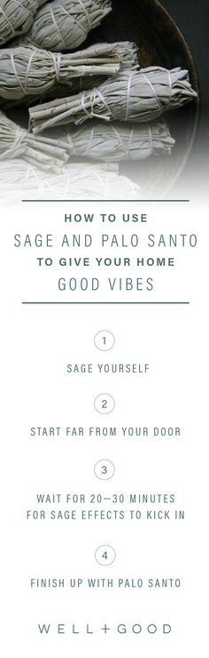 How to sage and palo santo your home