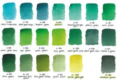 Schmincke Horadam explain their range of 20 greens, why you'd buy green watercolour and what to use them for while painting. Art Blog, Painting Illustration, Pigment Coloring, Earth Pigments, Painting, Green Watercolor, Watercolor Mixing, Paint Charts, Color Mixing