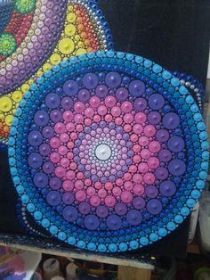 Fin..geometria sagrada vibrante :)#paint #geometriasagrada #puntos #mandala #art #love #heart #meditacion