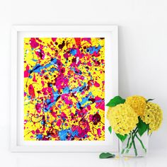 #Yellow #Abstract #Colorful #Painting #Rainbow #Print #AbstractPrint #Watercolor #Splash #Color #PRINTABLE #WallArt #Multicolor #Paint #Splashes #Painting #11x14 by #JuliaApostolova on #Etsy #design #ptintableart #home #interior #office #officeart