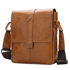 Bison Denim Man Brown Shoulder Bag Handbag Laptop Bags Composite Leather Casual Bag W24471V -- You can find out more details at the link of the image. Note:It is Affiliate Link to Amazon.