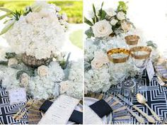 great gatsby table scape - Google Search