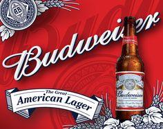 Pôster Budweiser The Great American Lager Pepsi, Coca Cola, Most Popular Beers, Ab Inbev, Beer Online, American Beer, Wood Burning Crafts, Female Poets, Beer Brands