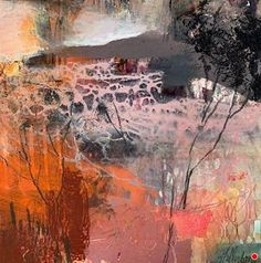 """FRESH OFF THE EASEL Abstract Landscape Painting, Contemporary Art """"Place of Tomorrow"""" by Intuitive Artist Joan Fullerton""""Paint thin, loose and . Abstract Landscape Painting, Landscape Art, Landscape Paintings, Abstract Art Paintings, Floral Paintings, Abstract Portrait, Portrait Paintings, Art Du Collage, Contemporary Abstract Art"""
