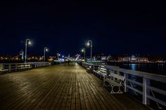 Sopot and molo by night
