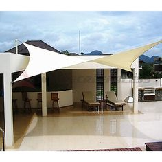 Details about 12 16 18 Rectangle Square Triangle Sun Shade Sail Yard Patio Canopy Pool Top - Outdoor Shade - Ideas of Outdoor Shade - Sun Shade Sail Fabric Outdoor Canopy Patio Pool Awning Cover or or Pool Shade, Backyard Shade, Outdoor Shade, Patio Shade, Pergola Shade, Patio Sails, Patio Pergola, Patio Roof, Pergola Plans