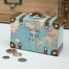 What a cute savings bank and travel related.