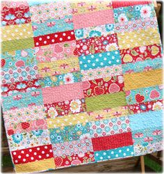 baby strip quilt