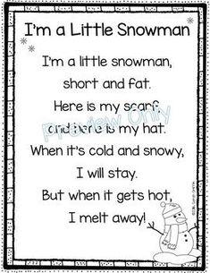 I'm a Little Snowman - Winter Poem for Kids