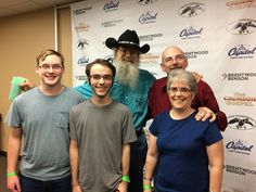 Fidlers, a friend, & Si from Duck Dynasty