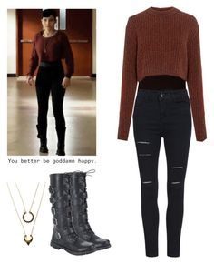 Audrey Jensen - mtv scream by shadyannon on Polyvore featuring polyvore fashion style TIBI WithChic clothing