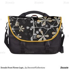 Dorado Frost Flower Laptop Bag