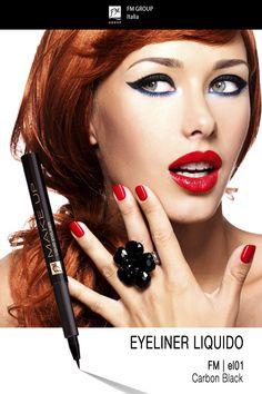Eyeliner liquido - FM | el01 - Carbon Black - Federico Mahora FM GROUP Italia