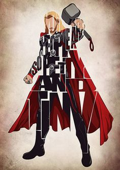 Thor Inspired Poster The Avengers Print and Poster von GeekMyWalL, $25.00