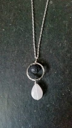Rose Quartz & Lava Essential Oil Necklace Diffuser --- Lava Rock Aromatherapy Jewelry pendant by AuraStrands on Etsy https://www.etsy.com/listing/246222457/rose-quartz-lava-essential-oil-necklace