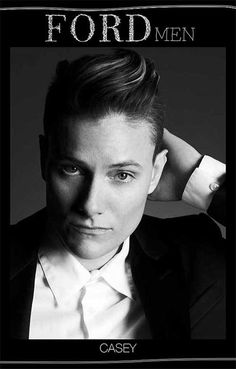 Casey Legler (female) male model for Ford  Awesome    http://www.time.com/time/video/player/0,32068,1978361760001_2129686,00.html?xid=Time_modeling_source=taboola