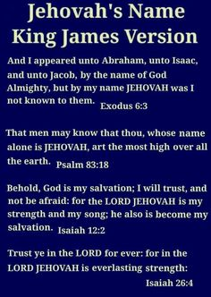 """Where God's name is found in the King James Version of the Bible. KJV. The name """"Jehovah"""" can be found in most translations of the Bible."""