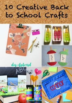 Fun Back to School Crafts for Kids via @resincraft…