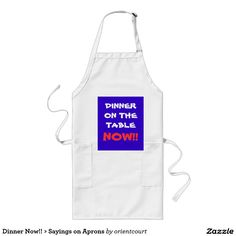 Purchase the perfect Funny Sayings apron right here on Zazzle. Funny Sayings, Aprons, Dinner, Food, Products, Funny Proverbs, Dining, Apron Designs, Food Dinners