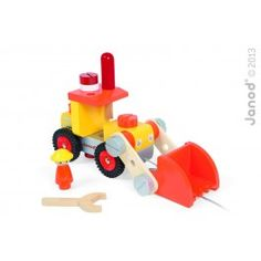 Build your own bulldozer pull-toy with this Janod Bricolo DIY Bulldozer! Woodworking Tools For Beginners, Essential Woodworking Tools, Woodworking Crafts, Baby Toys, Pull Toy, Wood Toys, Building Toys, Diy Tools, Wooden Diy