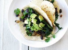 greens and beans burrito // good things grow