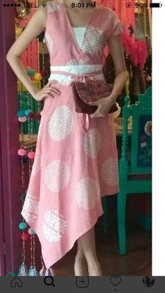 Batik Fashion, India Fashion, Hijab Fashion, Fashion Dresses, Batik Kebaya, Batik Dress, Simple Dresses, Pretty Dresses, Dance Dresses